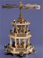 Two Tier Nativity Pyramid